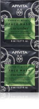 Apivita Express Beauty Cucumber intensiv feuchtigkeitsspendende Gesichtsmaske