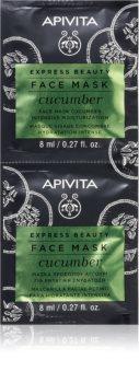 Apivita Express Beauty Cucumber интенсивная увлажняющая маска для лица
