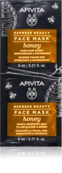 Apivita Express Beauty Honey Feuchtigkeitsspendende Maske mit ernährender Wirkung für das Gesicht