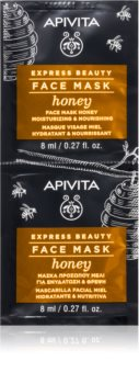 Apivita Express Beauty Honey mascarilla nutritiva e hidratante para el rostro