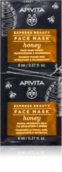 Apivita Express Beauty Honey vlažilna in hranilna maska za obraz