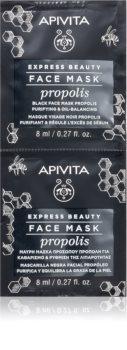 Apivita Express Beauty Propolis Reinigende schwarze Maske für fettige Haut