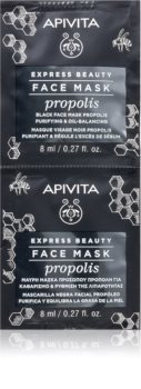 Apivita Express Beauty Propolis очищающая черная маска для жирной кожи