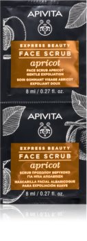 Apivita Express Beauty Apricot Mild ansigtsskrub til ansigt