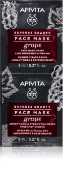 Apivita Express Beauty Grape зміцнююча маска дляобличчя проти зморшок