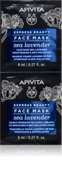 Apivita Express Beauty Sea Lavender mascarilla facial con efecto humectante