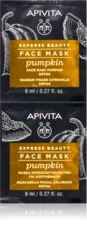 Apivita Express Beauty Pumpkin детоксикираща маска за лице