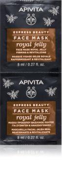 Apivita Express Beauty Royal Jelly mascarilla facial revitalizante con efecto reafirmante