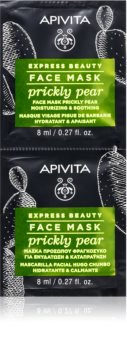 Apivita Express Beauty Prickly Pear łagodząca maseczka do twarzy o działaniu nawilżającym