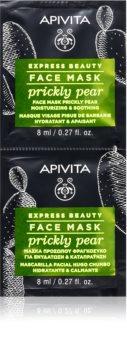 Apivita Express Beauty Prickly Pear pomirjajoča maska za obraz z vlažilnim učinkom