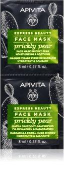 Apivita Express Beauty Prickly Pear zklidňující pleťová maska s hydratačním účinkem