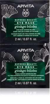 Apivita Express Beauty Ginkgo Biloba mascarilla para contorno de ojos antibolsas y antiojeras