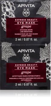 Apivita Express Beauty Grape mascarilla para ojos con efecto alisante