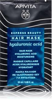 Apivita Express Beauty Hyaluronic Acid feuchtigkeitsspendende Maske für die Haare