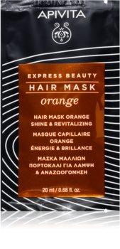 Apivita Express Beauty Orange revitalisierende Maske für die Haare