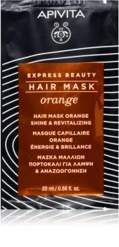 Apivita Express Beauty Orange revitalizacijska maska za kosu