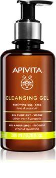 Apivita Cleansing Propolis & Lime gel nettoyant pour peaux grasses et mixtes