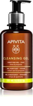 Apivita Cleansing Propolis & Lime очищающий гель для жирной и смешанной кожи