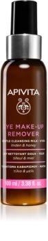 Apivita Cleansing Honey & Tilia proizvod za skidanje pudera za područje oko očiju