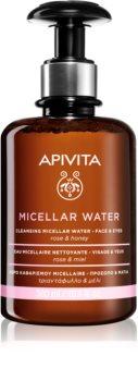 Apivita Cleansing Rose & Honey agua micelar para rostro y ojos