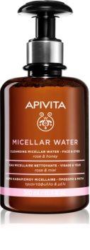 Apivita Cleansing Rose & Honey woda micelarna do twarzy i okolic oczu