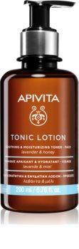 Apivita Tonic Lotion Soothing and Moisturizing Toner lotion tonique apaisante visage pour un effet naturel