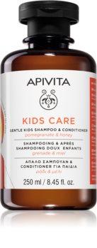 Apivita Kids Pomegranate & Honey champú y acondicionador 2 en 1 para niños