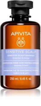 Apivita Holistic Hair Care Lavender & Honey champú para el cuero cabelludo sensible e irritado con lavanda