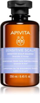 Apivita Holistic Hair Care Lavender & Honey szampon do wrażliwej i podrażnionej skóry głowy z lawendą