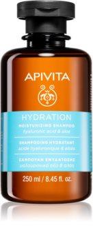 Apivita Holistic Hair Care Hyaluronic Acid & Aloe Moisturizing Shampoo for All Hair Types