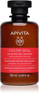 Apivita Holistic Hair Care Sunflower & Honey champú protector del cabello teñido
