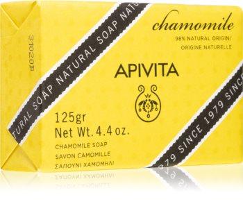 Apivita Natural Soap Chamomile sabonete de limpeza sólido