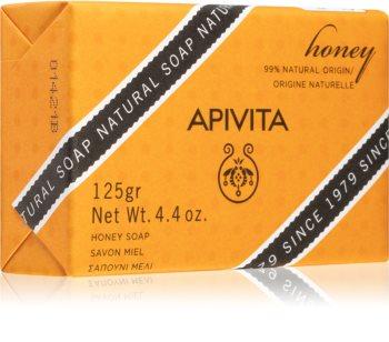 Apivita Natural Soap Honey почистващ твърд сапун