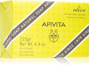 Apivita Natural Soap Olive очищающее твердое мыло