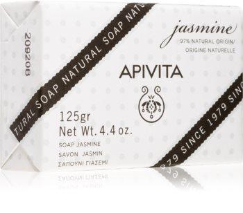 Apivita Natural Soap Jasmine sabonete de limpeza sólido