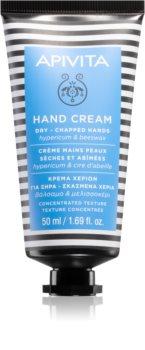 Apivita Hand Care Hypericum & Beeswax intensive Creme für Hände mit feuchtigkeitsspendender Wirkung