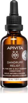 Apivita Holistic Hair Care Celery & Propolis kuracja dla skóry głowy przeciw tłustemu łupieżowi