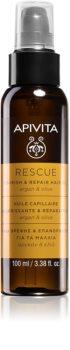 Apivita Holistic Hair Care Argan Oil & Olive nawilżający i odżywczy olejek do włosów z olejkiem arganowym