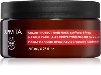 Apivita Holistic Hair Care Sunflower & Honey mascarilla para cabello para proteger el color