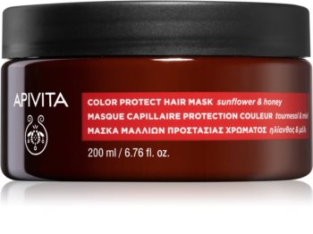 Apivita Holistic Hair Care Sunflower & Honey maska na vlasy pro ochranu barvy