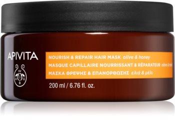 Apivita Holistic Hair Care Olive & Honey подхранваща маска за коса