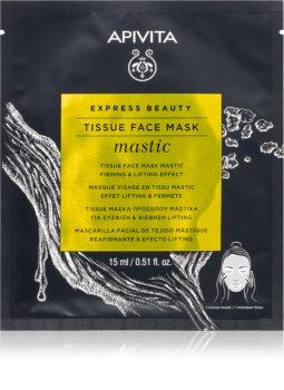Apivita Express Beauty Mastic тканевая маска с эффектом лифтинга