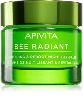 Apivita Bee Radiant Afgiftende og udglattende gel nat maske
