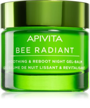 Apivita Bee Radiant glättendes und entschlackendes Gel-Balsam für die Nacht