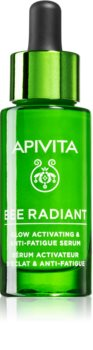 Apivita Bee Radiant auffrischendes hydratisierendes Serum gegen Hautalterung