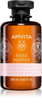 Apivita Rose Pepper gel de duche com óleos essenciais