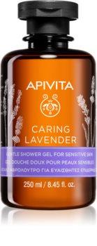 Apivita Caring Lavender sanftes Duschgel für empfindliche Oberhaut
