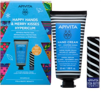 Apivita Hand Care Hypericum & Beeswax Gift Set I. (For Dry Skin)