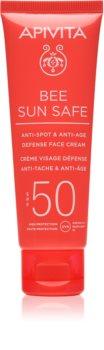 Apivita Bee Sun Safe krem ochronny o działaniu przeciwstarzeniowym SPF 50