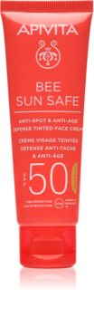 Apivita Bee Sun Safe ochranný tónovací krém na obličej SPF 50